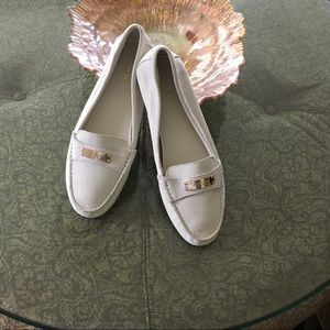 Coach loafers soft white